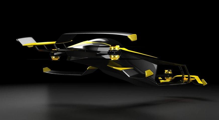 Водородный летающий автомобиль Carcopter - будущее гонок Формулы 1