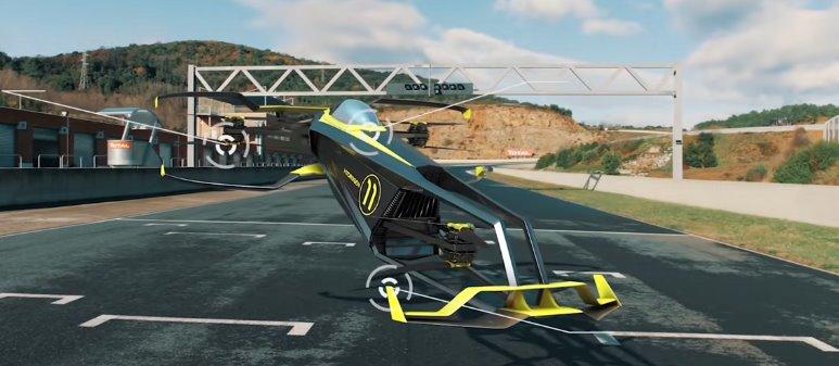 Летающий автомобиль на водороде