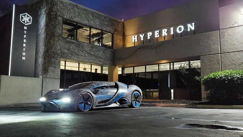Водородный гиперкар Hyperion XP-1 запас хода 1600 км, мощность 1500 л.с. и скорость 355 кмч (видео)