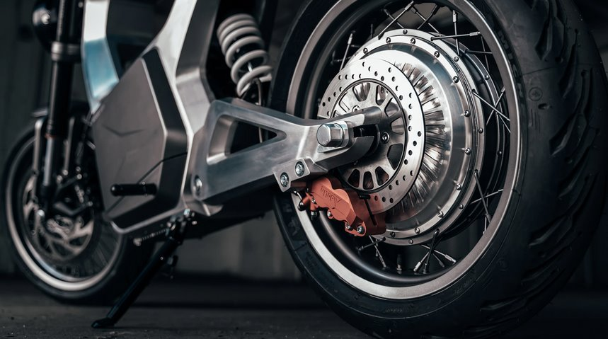 Мотор-колесо электромотоцикла Sondors Metacycle