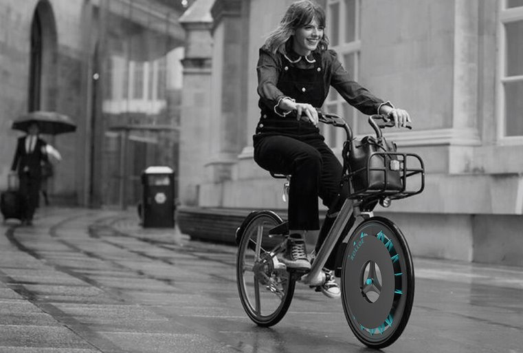 Колесо Rolloe превратит велосипед в городской воздухоочиститель