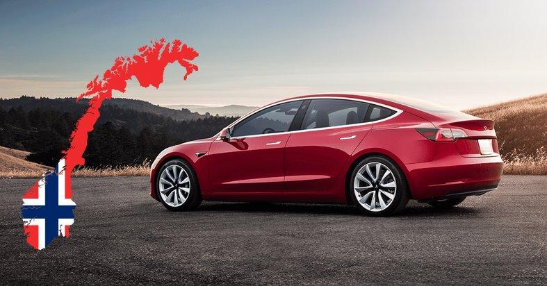 В Норвегии доля электромобилей среди новых авто превысила 50