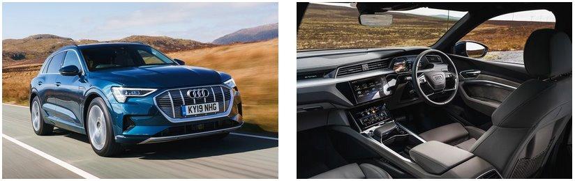 Электромобиль Audi E-tron - экстерьери и интерьер