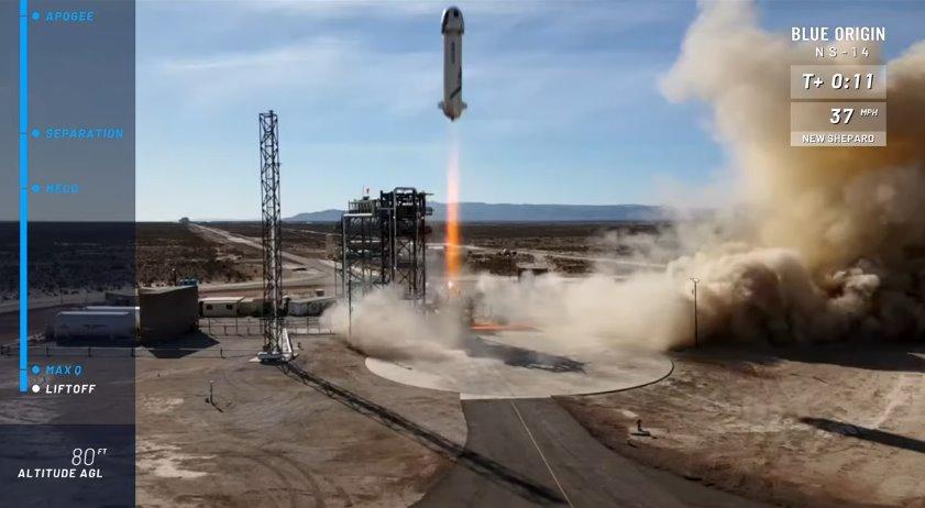 New Shepard launching