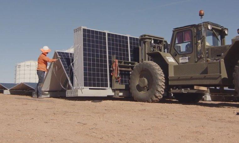 Быстрая установка промышленных солнечных электростанций