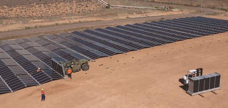 Мобильная промышленная солнечная станция