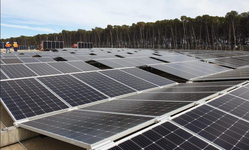 Установка солнечной электростанции на земле