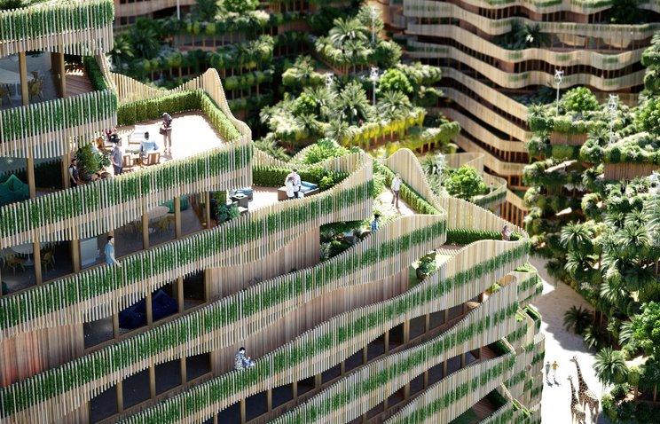 Биофильная архитектура GG-loop объединяет городскую среду с дикой природой