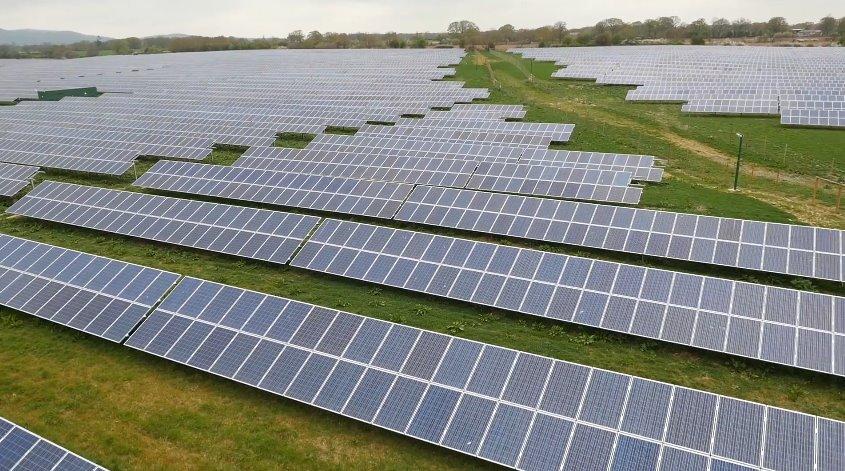 Солнечная электростанция на заброшенной пахотной земле