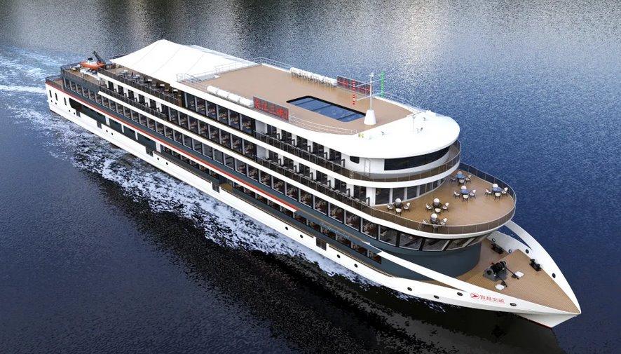 Крупнейше в мире судно на электрической тяге