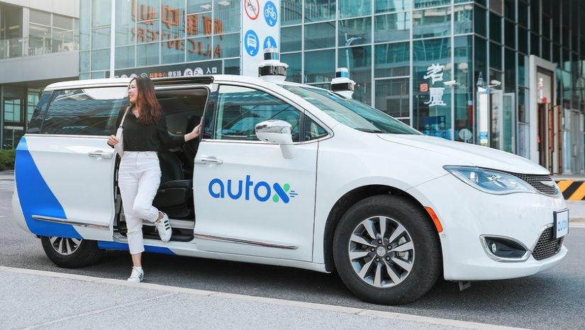 Беспилотное такси с пассажиром