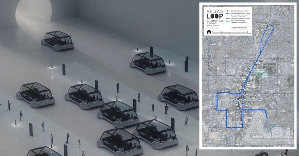 Первая городская тоннельная транспортная сеть будет создана в Лас-Вегасе