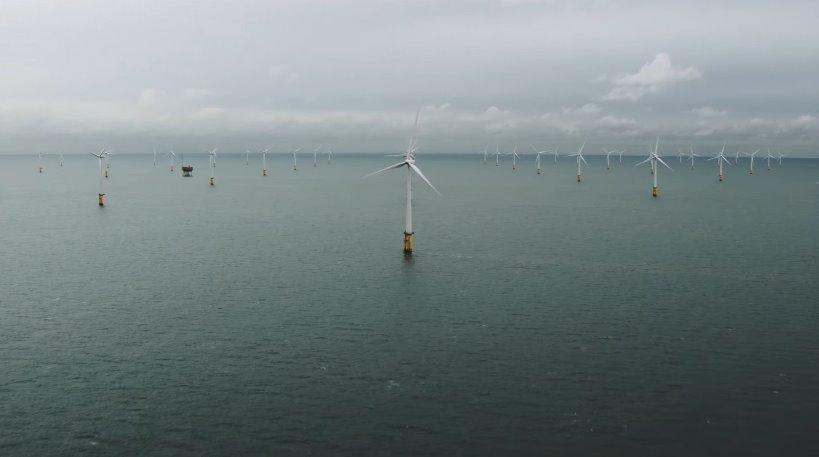 Гигантский морской ветропарк - офшорные ветровые турбины