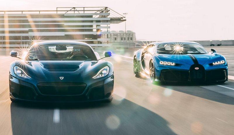 Bugatti объединилась с Rimac для создания серийных электрогиперкаров