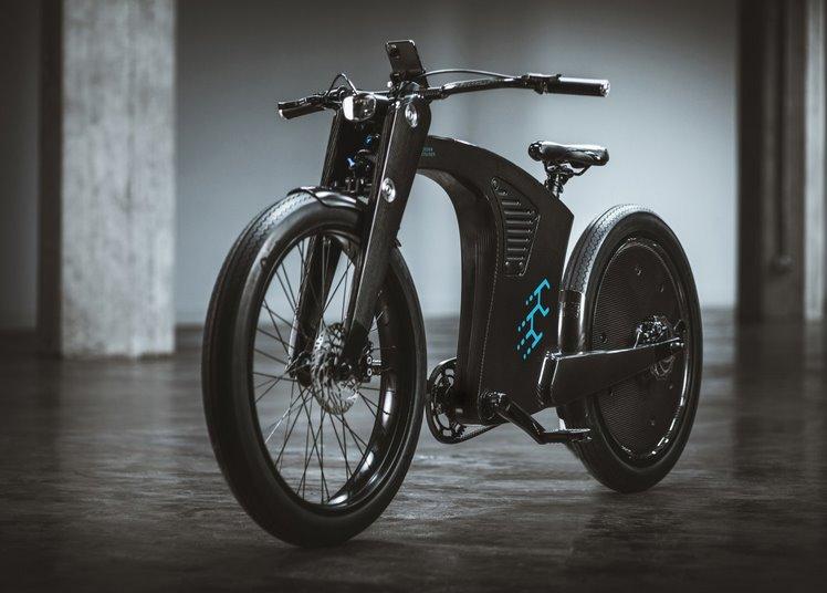 CrownCruiser - стильный карбоновый электровелосипед с дизайном ретро-мотоцикла