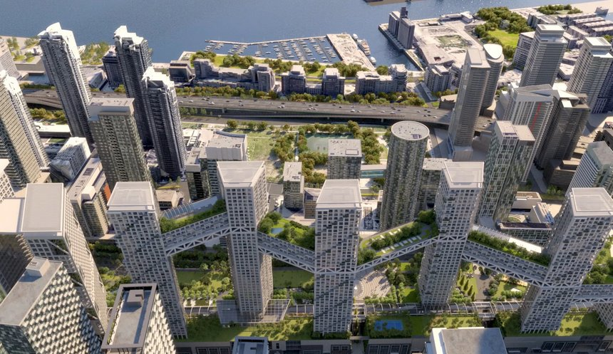 Озелененные крытые мосты объединят небоскребы Orca Toronto - ЭкоТехника
