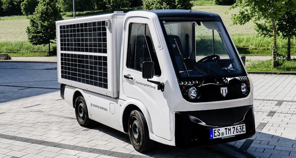 Tropos тестирует автомобили с кузовом из солнечных батарей