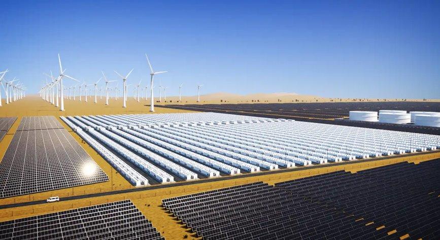 Солнечная электростанция для производства зеленого водорода