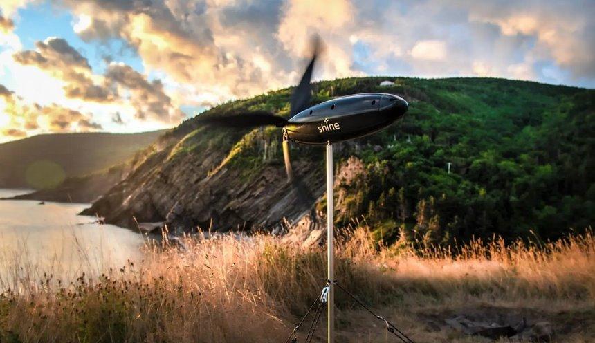 Мобильный ветряк для походов