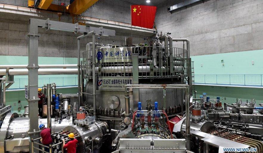 Новые рекорды китайского искусственного солнца 120 млн С и 101 секунда удержания плазмы