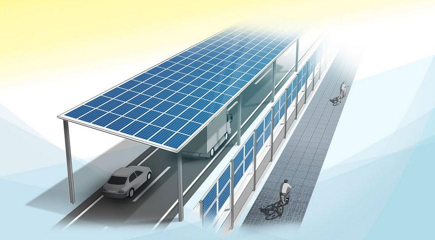 В Германии автомагистраль накроют солнечной крышей