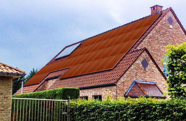 Оранжевые солнечные панели Bisol
