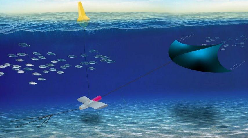 Подводный воздушный змей будет собирать энергию течений