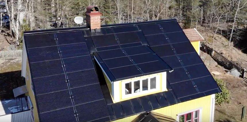 Крыша фотоэлектрическая
