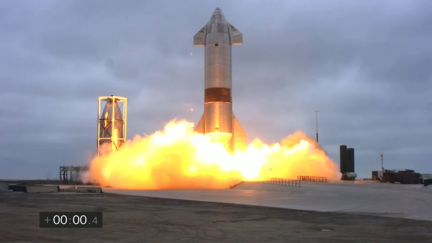 Starship успешно приземляется