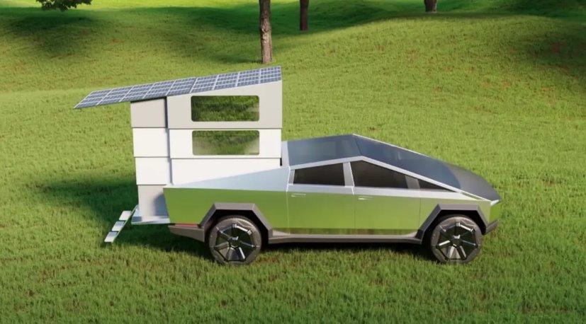 Солнечный дом на колесах пикап Tesla