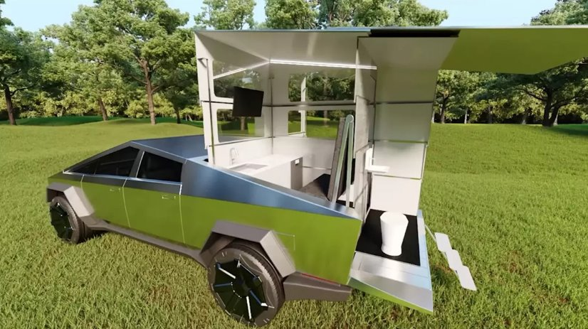 Автодом на электромобиле Tesla