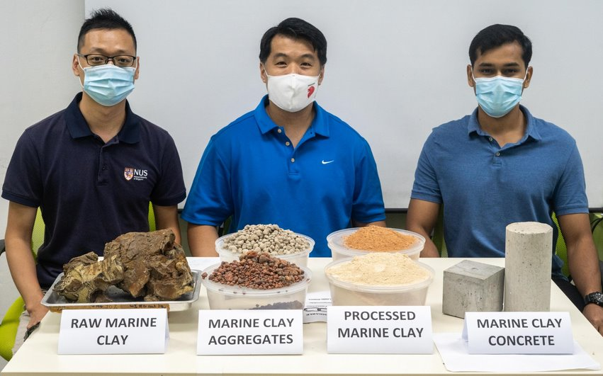 Для создания экологичного бетона песок заменили морской глиной