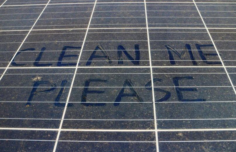 Автоочистка солнечной панели