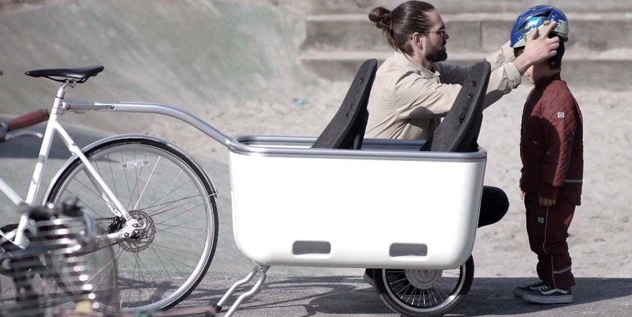Электро велоприцеп для пассажиров