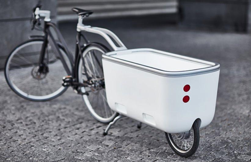 Прицеп с электроприводом для велосипеда