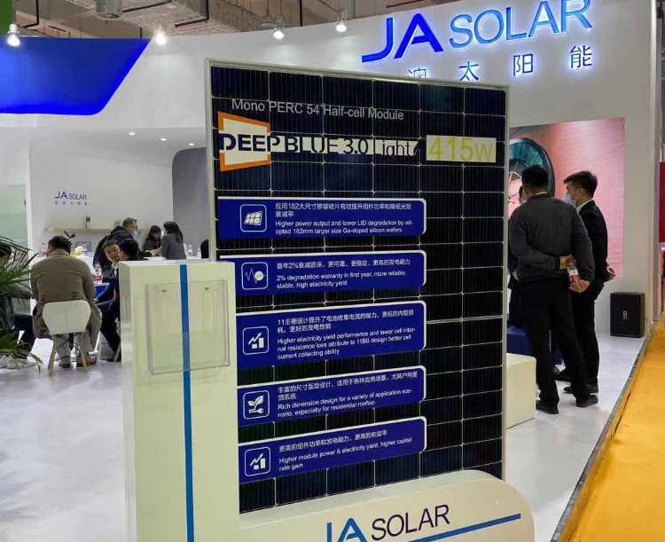 JA Solar выпустила новую серию солнечных панелей 415 Вт с КПД 21,3