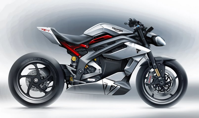Электромотоцикл Triumph TE-1 получит спортивные характеристики