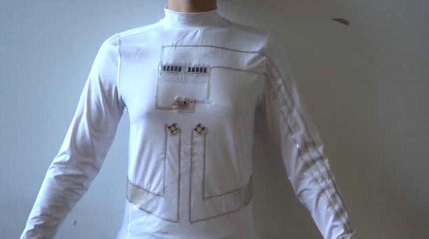 Создана электрогенерирующая одежда для занятий спортом