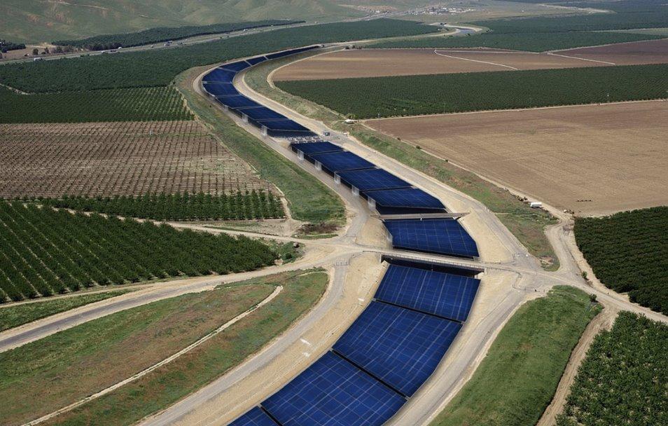Исследование насколько выгодно устанавливать солнечные батареи над водными каналами