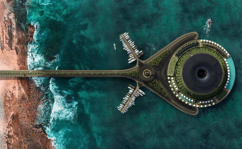 В Катаре построят вращающийся плавучий эко-отель