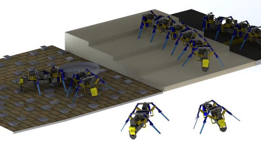 Мини-роботы со стайным поведением соединяются для преодоления препятствий, как муравьи