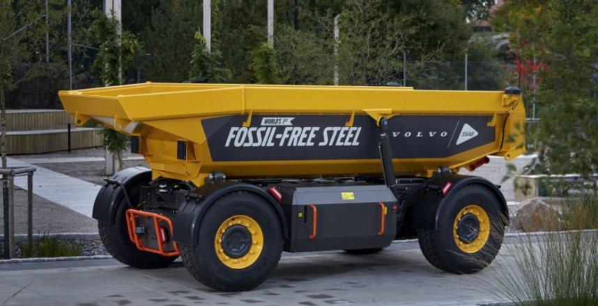 Беспилотный электрический самосвал Volvo сделала из стали, выплавленной без сжигания углеводородов