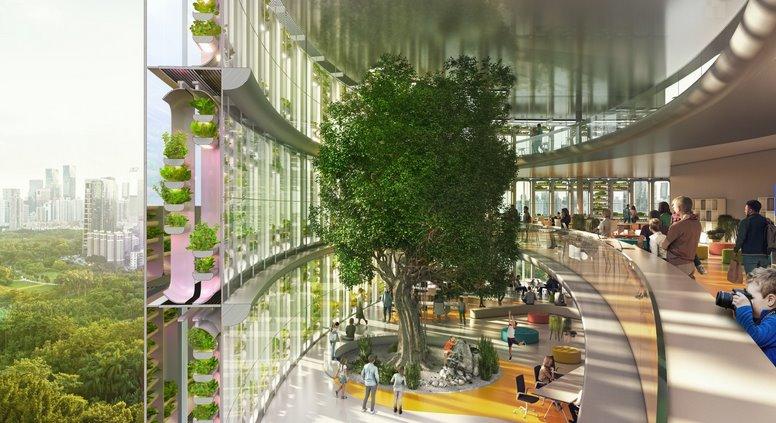 Фермоскреб объединит офисную высотку с гидропонным садом для выращивания продуктов питания