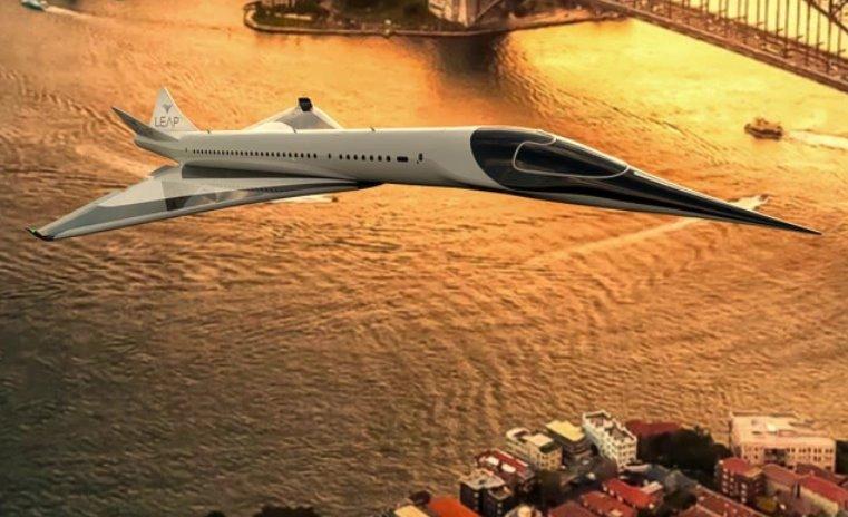 Сверхзвуковой авиалайнер с вертикальным взлетом и нулевыми выбросами хочет построить Leap Aerospace