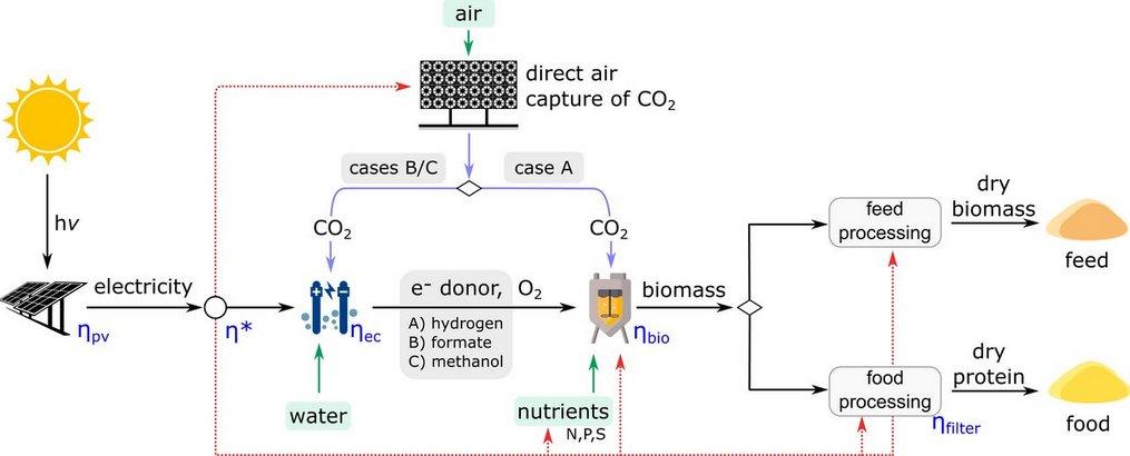 Солнечная энергия обеспечит производство продуктов питания из микробов