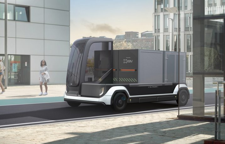 Электрические мини-грузовики EAV смогут объединяться в беспилотный автопоезд
