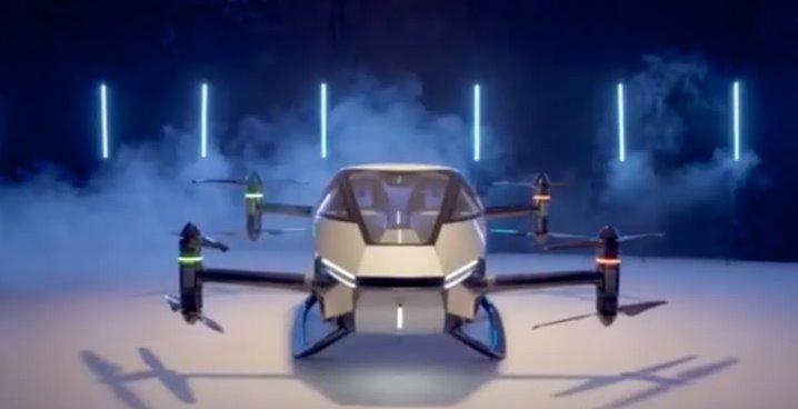 XPeng показала свой летающий автомобиль в действии