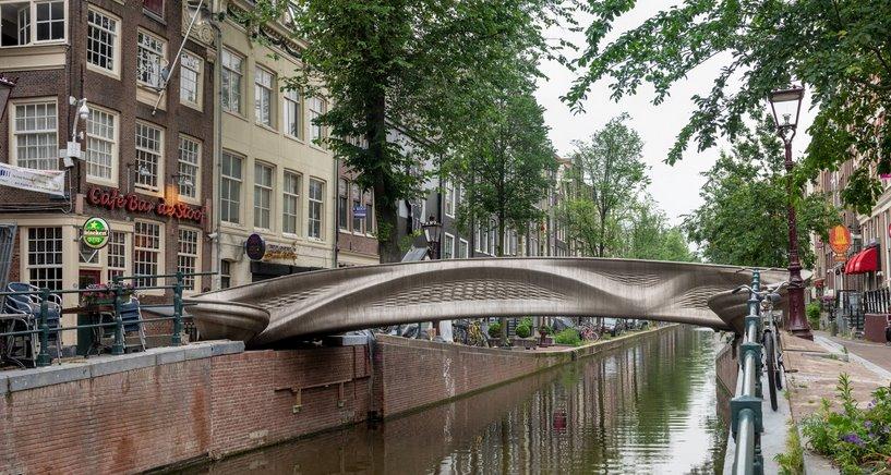 Запущен в эксплуатацию первый в мире 3D-печатный стальной мост