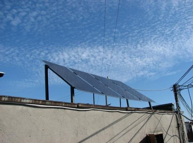 Солнечная электростанция на крыше многоквартирного дома