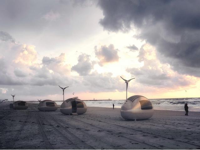 Лагерь мини-жилищ на море